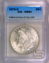 1879-O Morgan Dollar ICG MS-64; Vam-4, O/Horizontal O, Top 100; Frosty W... - $2,474.99