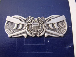 Uscg Auxiliary Coxswain Qualification Badge Insignia Enlisted On Meyer Card - $4.25