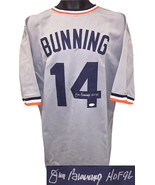 Jim Bunning signed Gray TB Custom Stitched Baseball Jersey HOF 96 XL- JS... - $109.95