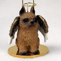 BRUSSELS GRIFFON ANGEL DOG CHRISTMAS ORNAMENT HOLIDAY Figurine Statue - $12.38