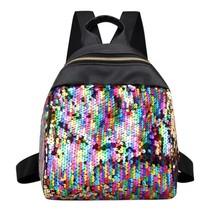 Mini Sequins Women Backpack Bag School Travel Shoulder Rucksack Girls Gl... - €15,09 EUR