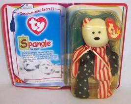 "McDonald's Introduced 4/24/99 TY Beanie Baby ""Spangle"" The American Bear... - $8.58"