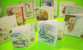 1944 Christmas Greeting Card Collection Lot Of 10 Cards Envelopes Stamps... - $29.41