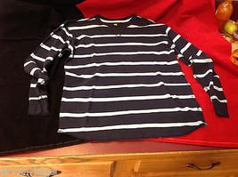 GAP BOYs XL Navy w light blue Striped  Thermal Long Sleeve Shirt Sweater