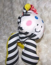 VINTAGE FISHER PRICE GRAB EMS STUFFED PLUSH CLOTH 1990 ZEBRA RATTLE BABY... - $65.83