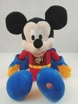 Hallmark Exclusive Disney Super Mickey Mouse Talks With Light Up Cape 16... - $18.69