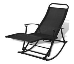 Outdoor Beach Sunlounger Adjustable Rocking Chair Foldable Reclining Pat... - $148.49
