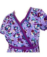 Koi By Kathy Peterson Lavender Purple Floral XS Scrub Top - $15.83