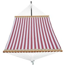 Patio Watcher 14 FT Quick Dry Hammock with Double Size Solid Wood (Red W... - $80.74