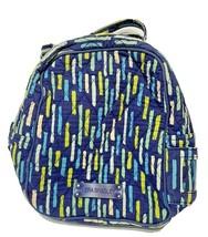 Vera Bradley Insulated Lunch Sack Bag Blue Yellow White Green - $11.61