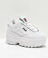 Womens Fila Disruptor II White Super Platform Shoes NEW 2 - $141.36
