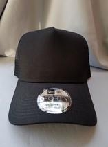 1X - New Era 9Forty Snapback Trucker Hat Cap Blank { BLACK///BLACK } Ne 9FORTY - $14.99