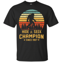 Hide and Seek World Champion T-Shirt Bigfoot Retro Vintage since 1967 Men Cotton - $16.82+