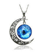 Silver Plated Moon Galactic Universe Glass Cabo... - $7.12