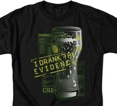 CSI t-shirt I Drank the Evidence TV series 100% cotton graphic tee CBS189 image 2