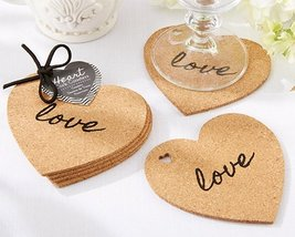 Heart Cork Coasters Set of 4 [Set of 12] - $31.04