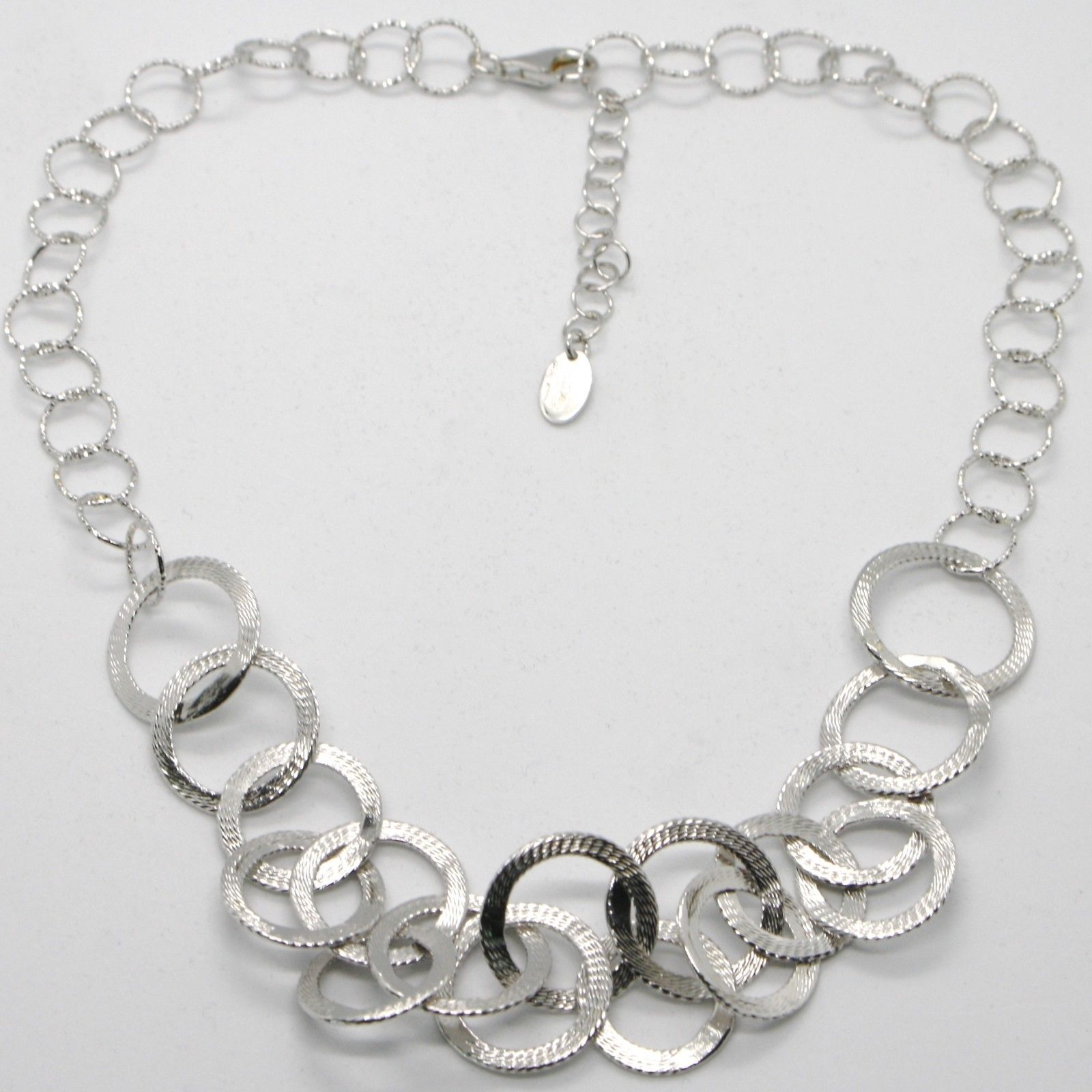 COLLIER RAS-LE-COU ARGENT 925 JANTES USINÉES BY MARIE IELPO, MADE IN ITALY