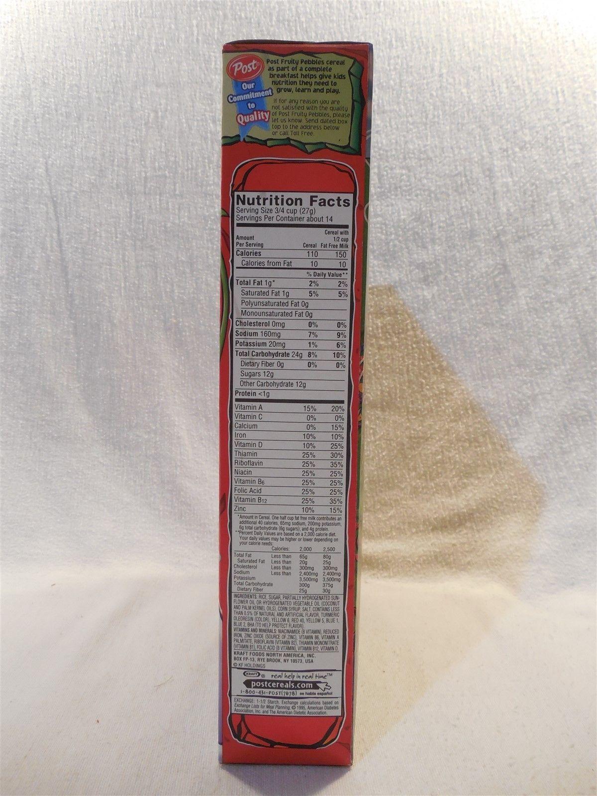 Flintstones 2003 Post Fruity Pebbles Unopened Cereal Box Wintertime Fun