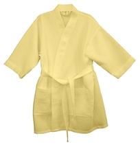 """36"""" Yellow Cotton Waffle Kimono Robe, Adult One Size Fits Most - $22.50"""