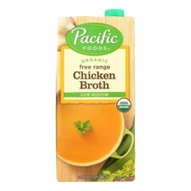 Pacific Natural Foods Free Range Chicken Broth - Low Sodium - Case Of 12... - $76.96
