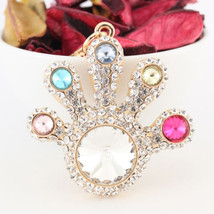 Diamond Crystal Hand Keychain Rhinestone Charm Cute  #MCK11 - $18.17
