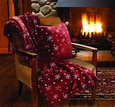 Lady Sandra Home Fashions Snowflake Holiday Throw Blanket and Pillow Set - $24.99