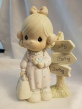 Precious Moments Loving, Caring and Sharing Along the Way Girl Figurine ... - $2.23