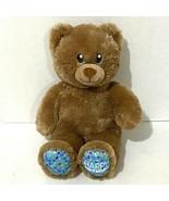 "Build a Bear Plush 15"" Brown Teddy Happy Birthday Confetti Smiling Heart... - $20.57"