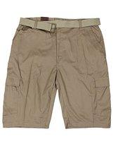 LR Scoop Men's Casual Golf Belted Cargo Dress Shorts Big Plus Sizes (40W, Khaki)