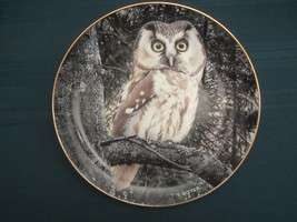 TENGMALM'S OWL collector plate NIGHT WATCHMAN Trevor Boyer OWLS Danbury ... - $19.95