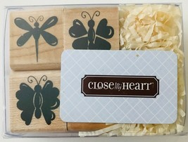 "Spring Wishes 4 Mini Rubber Stamps Butterflies Close To My Heart New 1"" ... - $6.89"