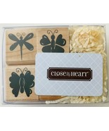 """Spring Wishes 4 Mini Rubber Stamps Butterflies Close To My Heart New 1"""" ... - $6.89"""