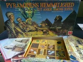 HTF VINTAGE jumbo pyramidens hemmelighed game 1989 pyramid tut ankh amon... - $65.00