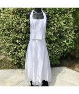 Blondie Nites 2-Piece Formal Dress Womens 15-16 White Corset Beaded Juniors - $40.59