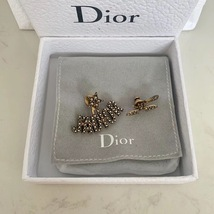 AUTHENTIC Christian Dior J'ADIOR Bee Wasp Gold Asymmetrical EARRINGS RECEIPT image 5
