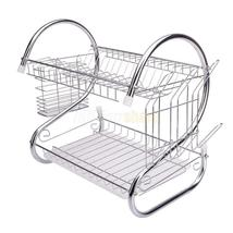 Hot Kitchen Dish Cup Drying Rack Drainer Dryer Tray Cutlery Holder Organ... - $28.08