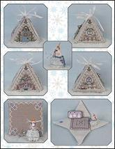Frosty Winter Mouse In A House cross stitch chart Just Nan - $25.00