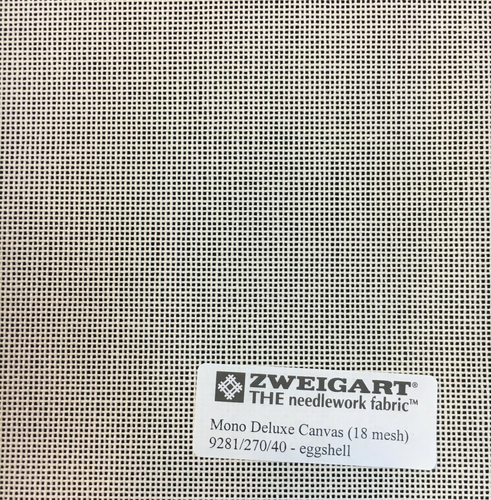 Primary image for Zweigart Needlepoint Canvas Mono Deluxe 18 Count Eggshell Custom Cuts Blank