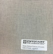 Zweigart Needlepoint Canvas Mono Deluxe 18 Count Eggshell Custom Cuts Blank - $10.93+