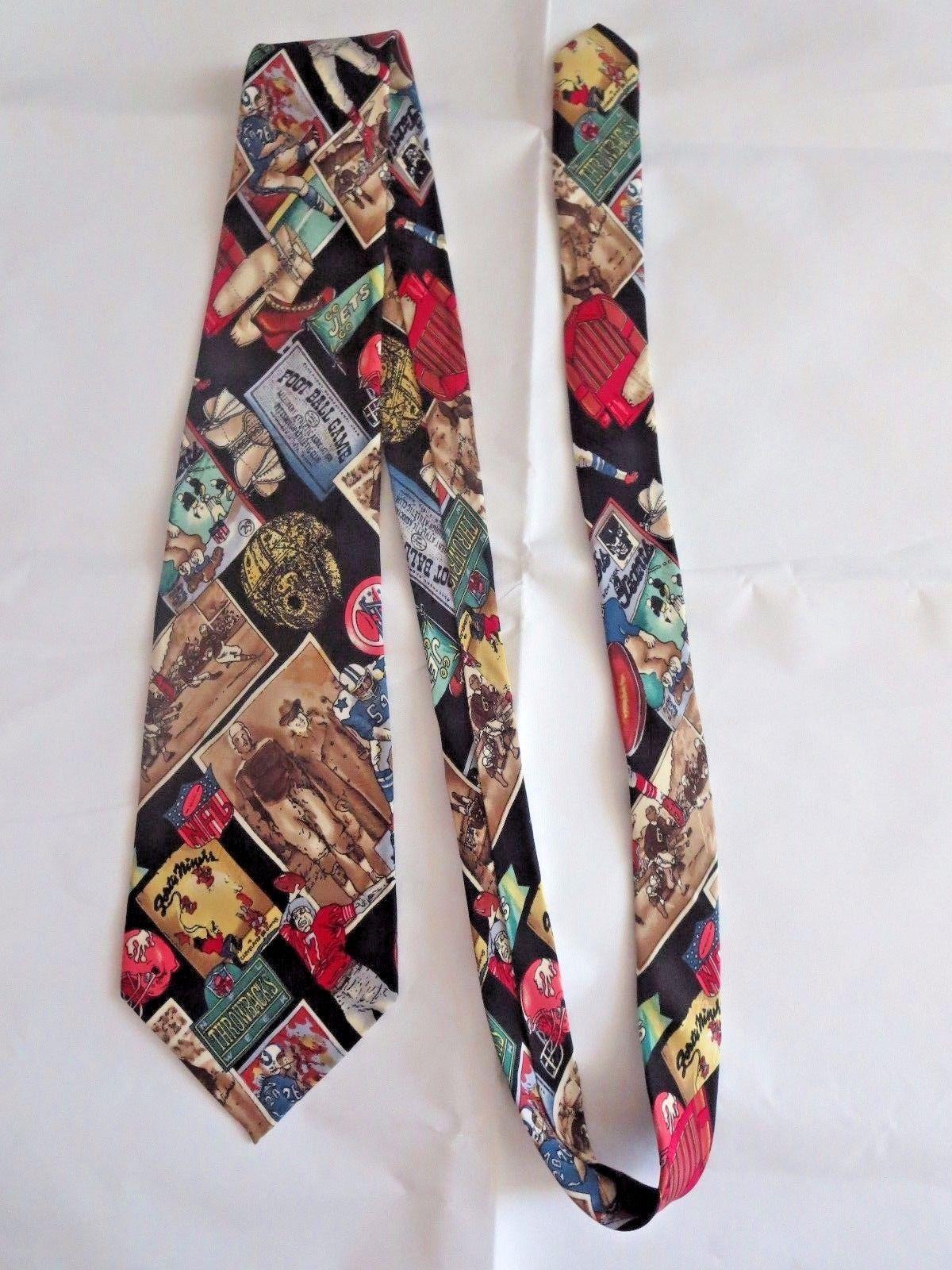 NFL Football Collectible Vintage 1994 Designer Neck Tie 100% Silk Excell. Cond.