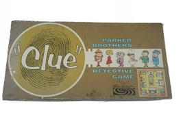 "Vintage 1963 ""CLUE"" Board Game No. 45Parker Brothers Collectible-missing pipe - $19.79"