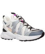 MICHAEL MICHAEL KORS Hero Mixed-Media Trainer Optic White/Silver Sneakers Size 6 - $148.49