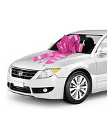 """Zoe Deco Big Car Bow 30"""" Pink, 1 Pack with 2 Gold Accessory Bows, Giant ... - $14.38"""