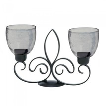 Fleur De Lis Duo Iron Candle Holder  image 2