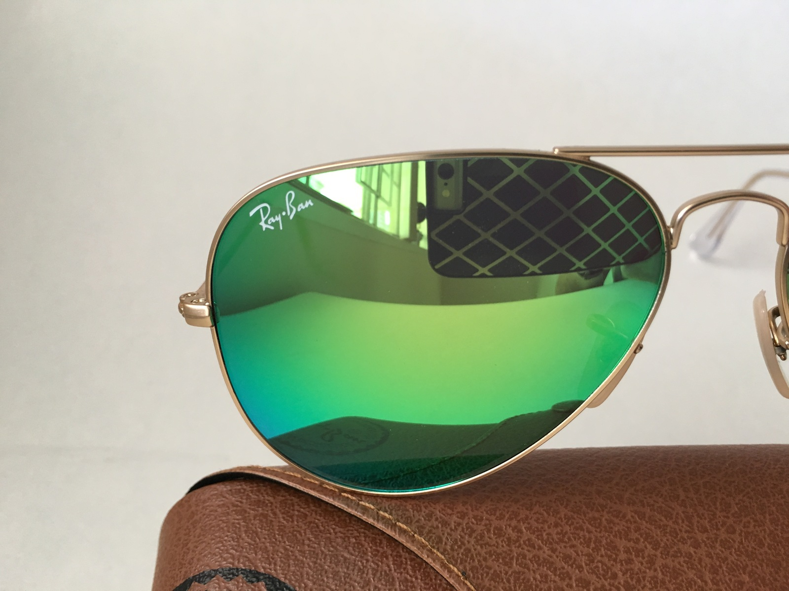 Ray Ban Aviator RB3025 112/19 58mm Sunglasses Gold With Green Mirror Lens