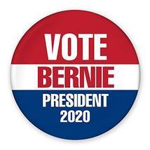 "3"" Pin-Back Button - Vote Bernie Sanders President 2020 - Red, White, Blue - $499.99"