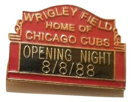 10th Anniversery 8-8-88 Chicago Cubs SGA pin 1st night Game - $10.88
