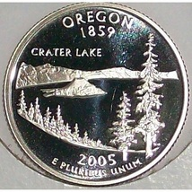 2005-S Clad Proof Oregon State Quarter PF65DC #423 - $2.39
