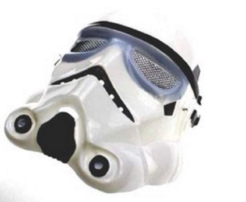 Adult Star Wars Black White Mask Cosplay Costume Stormtrooper Mask Party image 4
