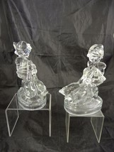 Vintage LE Smith Glass Goose Girl Bookends - $28.49